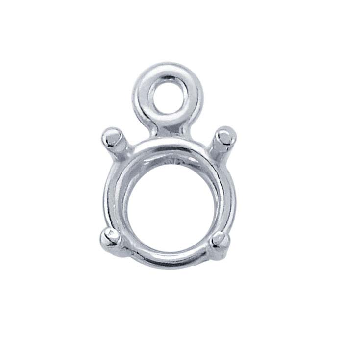 ReadySet™ Sterling Silver Round Pre-Notched Basket Component Mountings