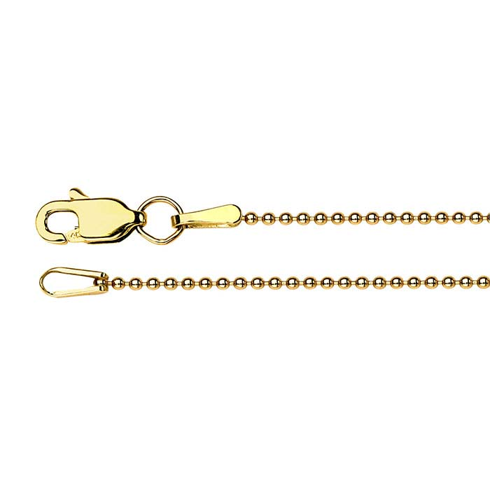 14K Yellow Gold Bead Chains