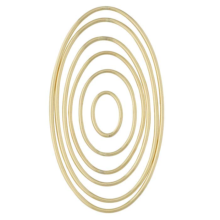 14/20 Yellow Gold-Filled Smooth Concentric Oval Component Set