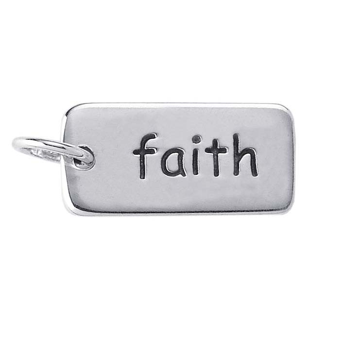 "Sterling Silver ""Faith"" Charm"