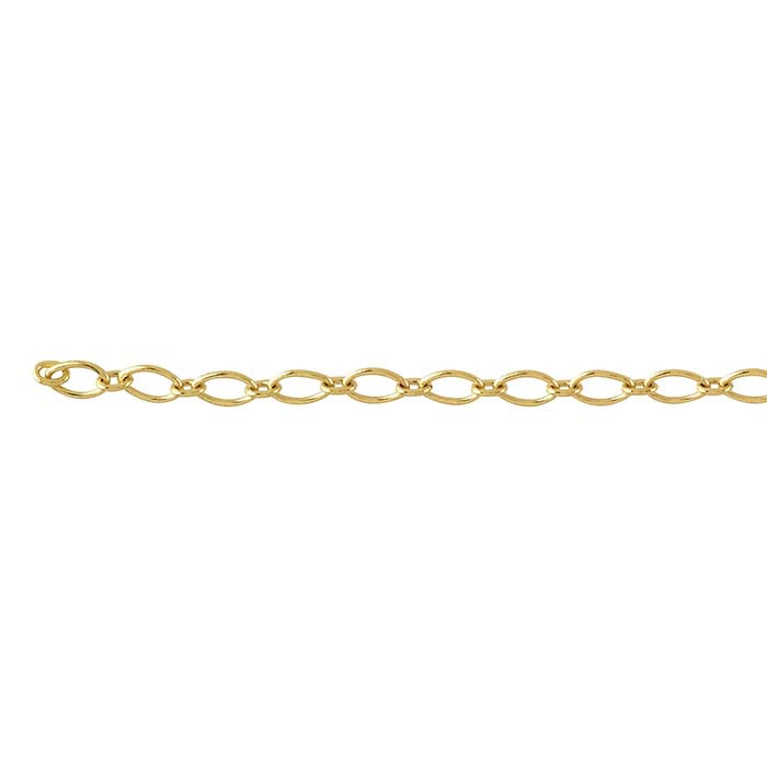 18K Yellow Gold 1.9mm Long & Short Chain, By the Inch