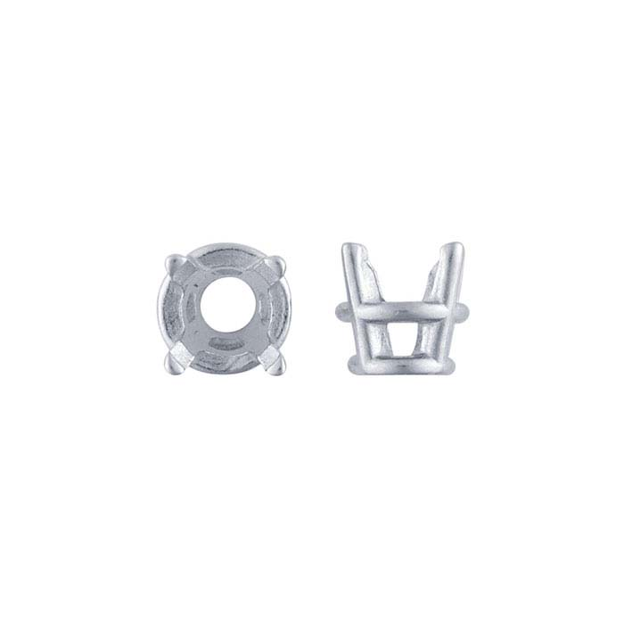 14K White Gold Round TruSeat™ Basket 4-Prong Settings
