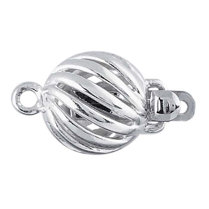 Sterling Silver Twist Round Clasp