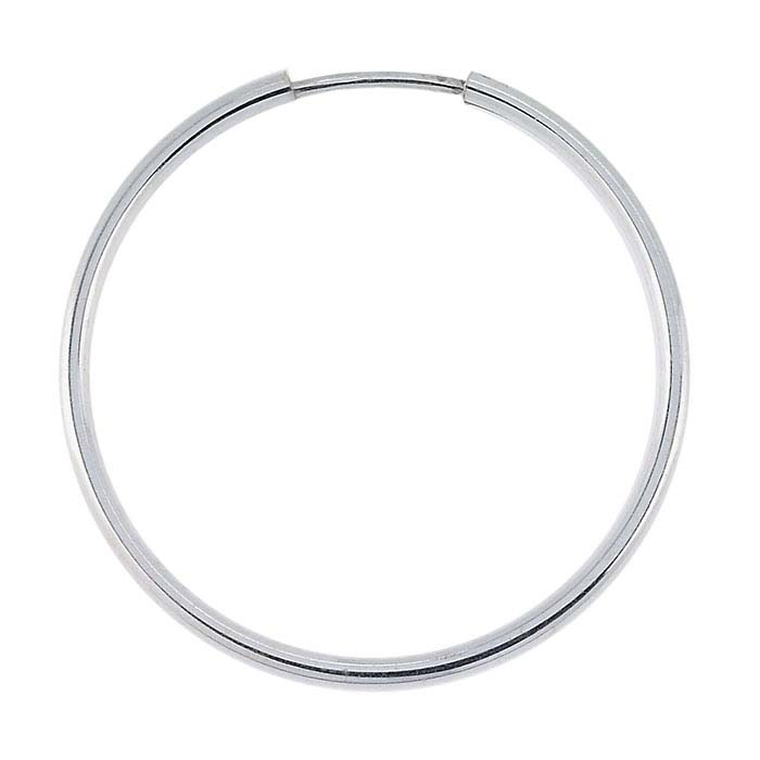 Sterling Silver Tubing Endless Hoop Earring