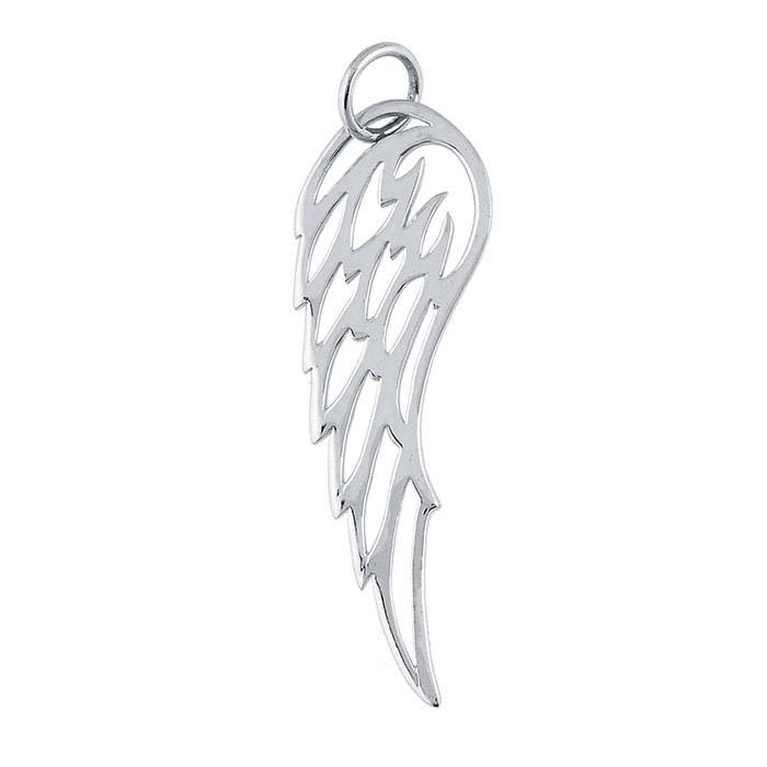 Sterling Silver Open Angel Wing Pendant