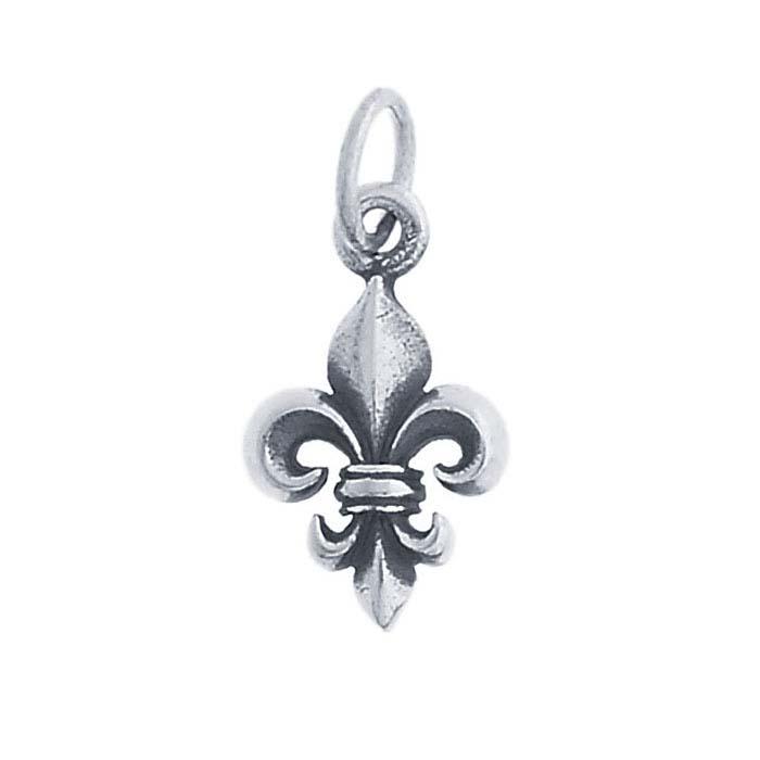Sterling Silver Fleur-de-Lis Charm