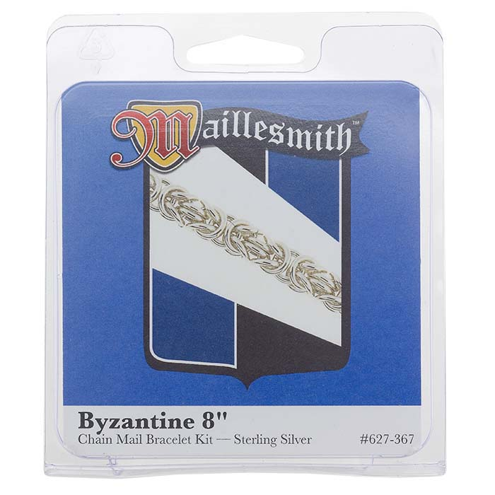 "Sterling Silver ""Byzantine"" Chain Mail Bracelet Kit"