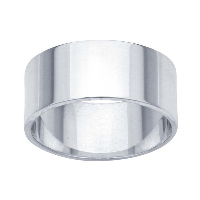 Sterling Silver 8mm Flat Wedding Bands