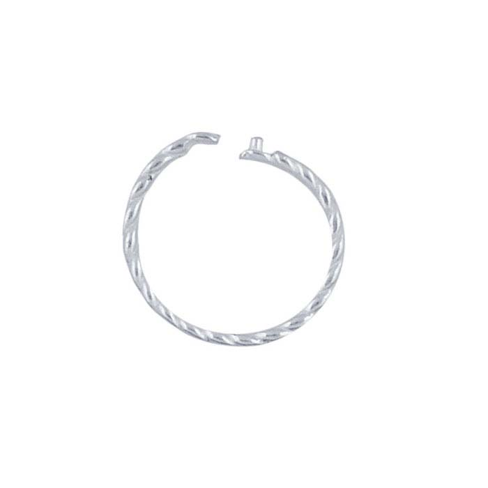 Sterling Silver 9.8mm Twist-Wire Locking Jump Ring