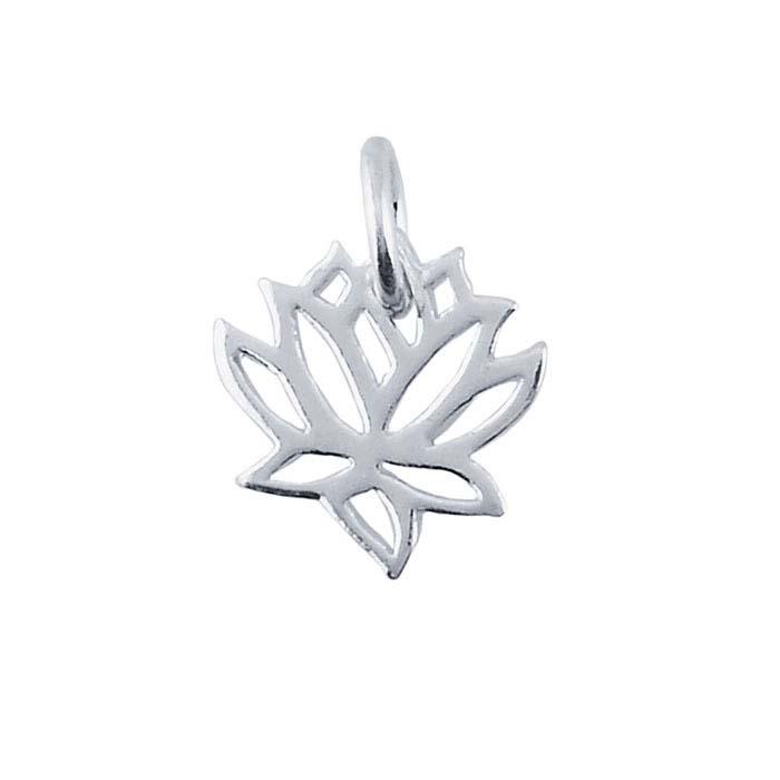 Sterling Silver Lotus Blossom Charm
