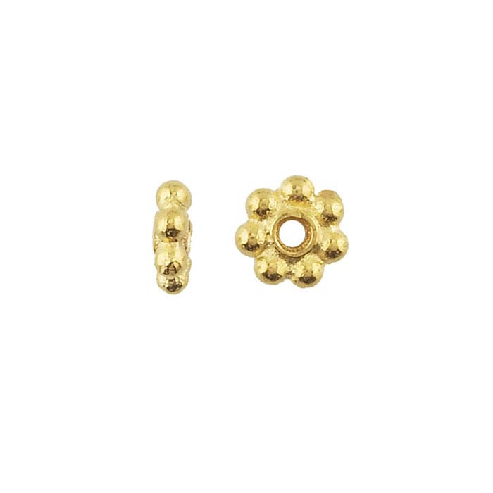 Britannia Pewter Gold-Plated 5mm Bali-Style Bead