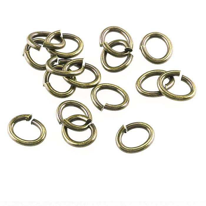 Brass Antique-Finish 4 x 3.5mm Oval Jump Ring
