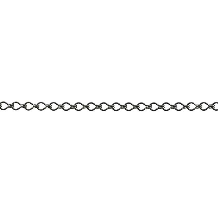 Steel Gunmetal-Finish 3.8mm Ladder Chain, 20-ft. Spool