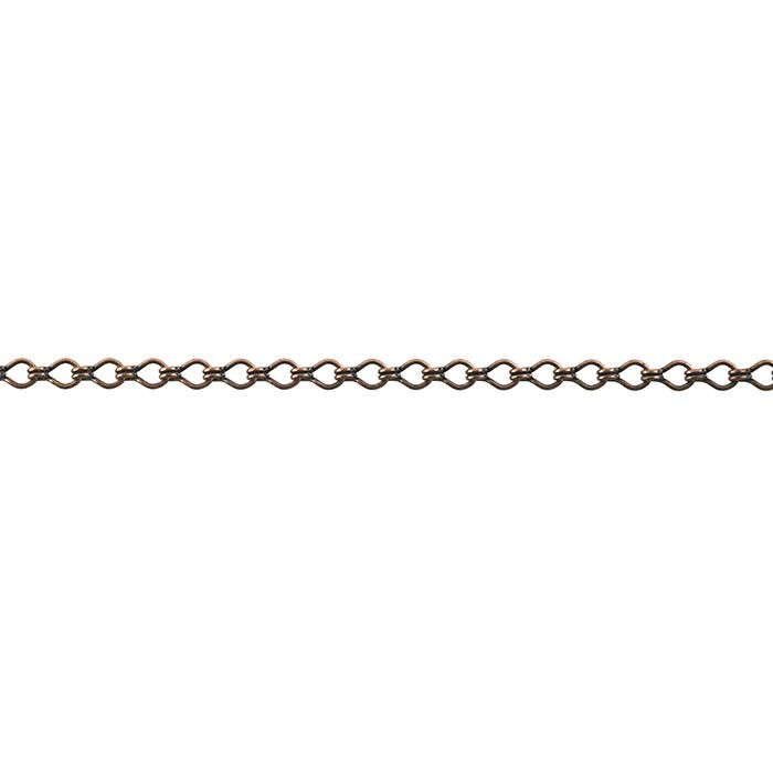 Steel Antique Copper-Finish 3.8mm Ladder Chain, 20-ft. Spool