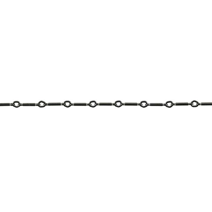 Steel Gunmetal-Finish 1mm Bar and Link Chain, 20-ft. Spool