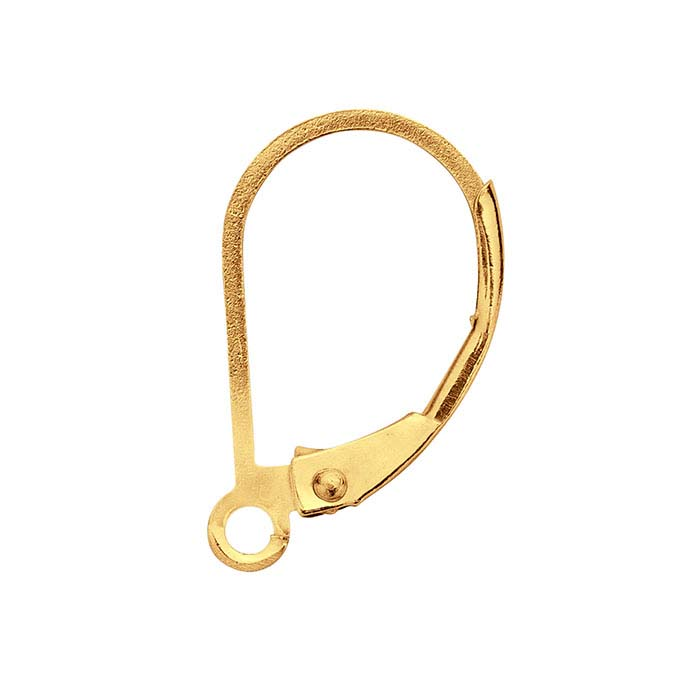 14/20 Yellow Gold-Filled Lever-Back Ear Wire with Open Ring