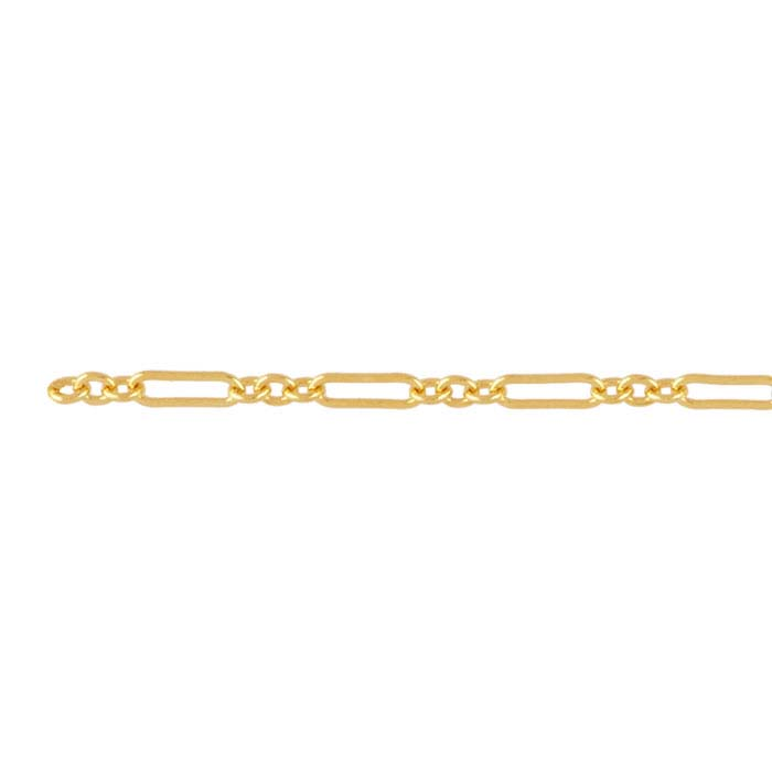 14/20 Yellow Gold-Filled Flat Long & Short Chains