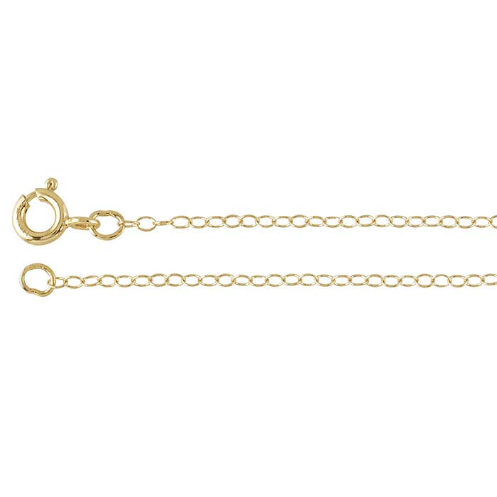 14/20 Yellow Gold-Filled Oval Cable Chains