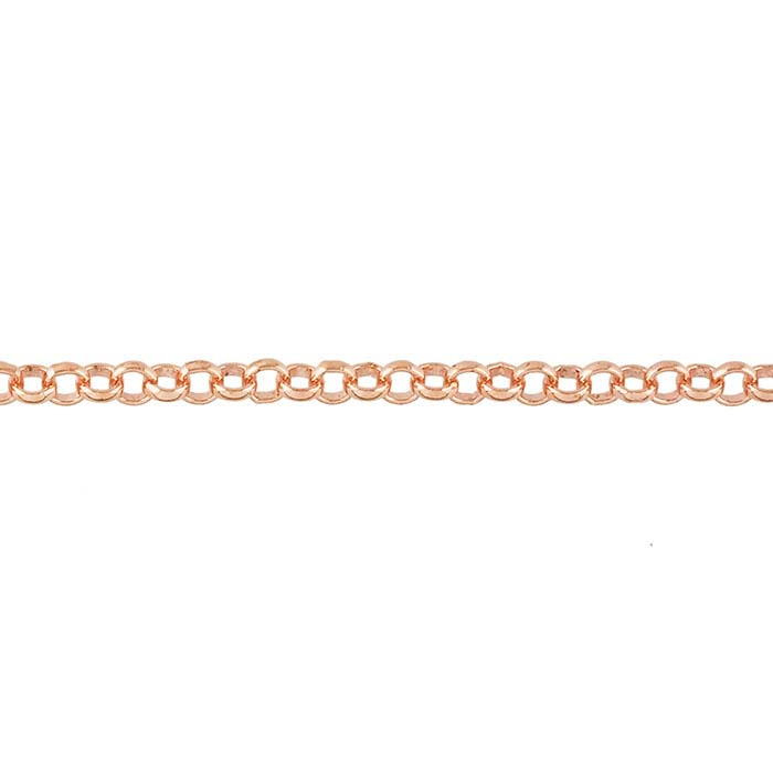 Copper 4mm Rolo Chain, 20-ft. Spool