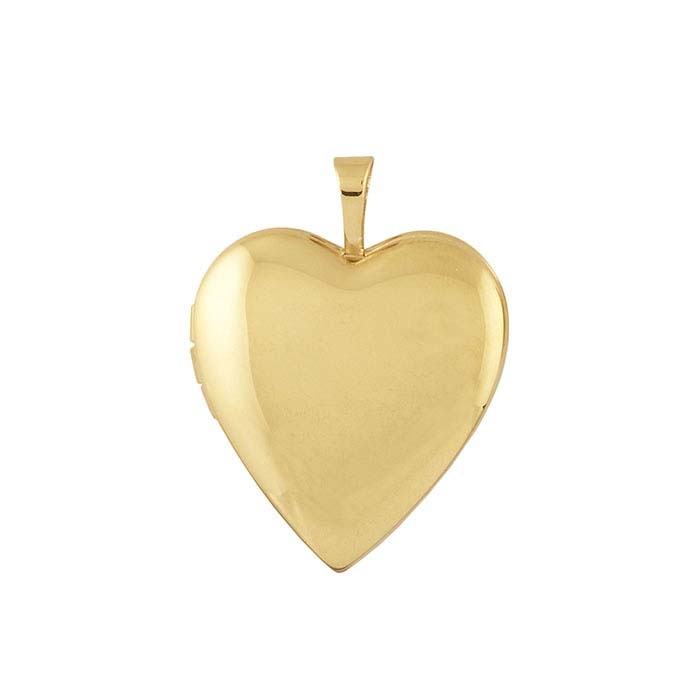 14/20 Yellow Gold-Filled Smooth Heart Locket Pendant