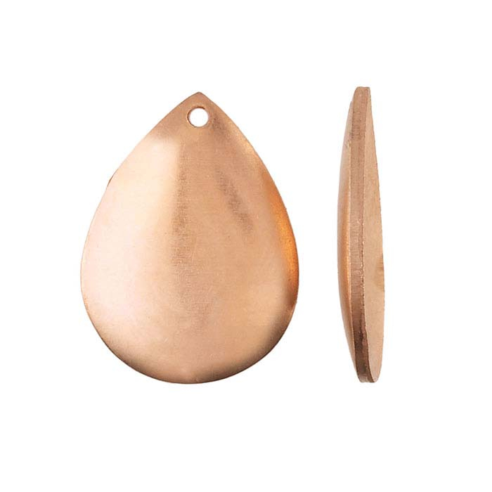 Copper Domed Teardrop Component