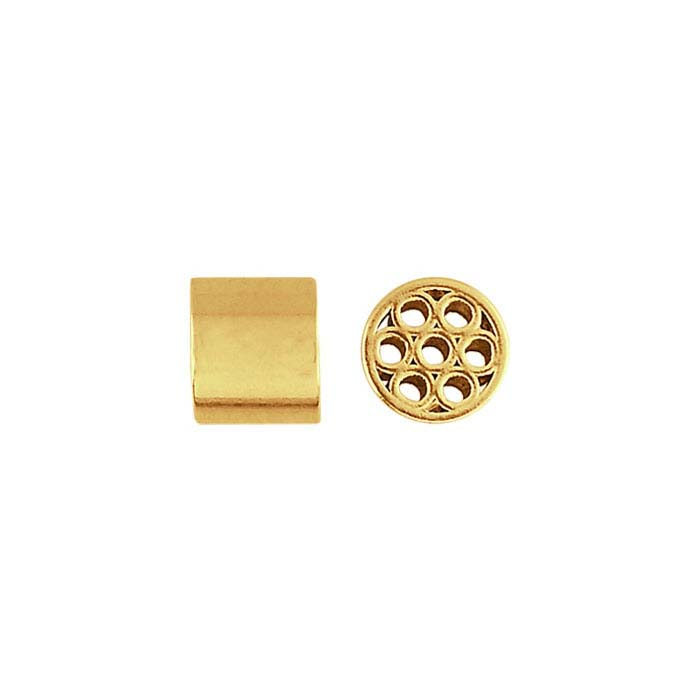 14/20 Yellow Gold-Filled Magic Finding 3 x 3.5mm Crimp Bead