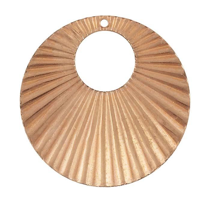 Copper Corrugated Circle Component