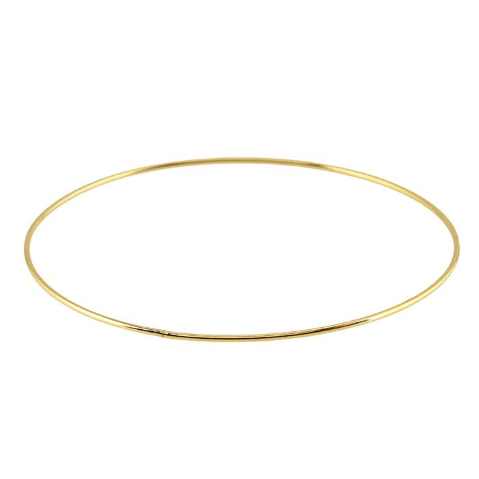 14/20 Yellow Gold-Filled Plain Bangle Bracelet