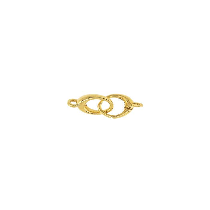 14K Yellow Gold Oval Push Clasps
