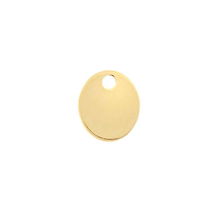14/20 Yellow Gold-Filled Oval Tags