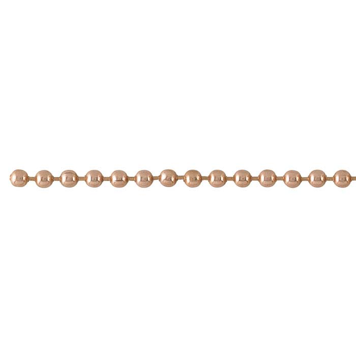 Copper 2.4mm Bead Chain, 20-ft. Spool