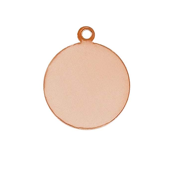 Copper Round Tags