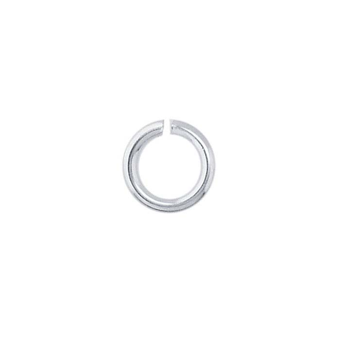 Brass Silver-Plated 5mm Round Jump Ring