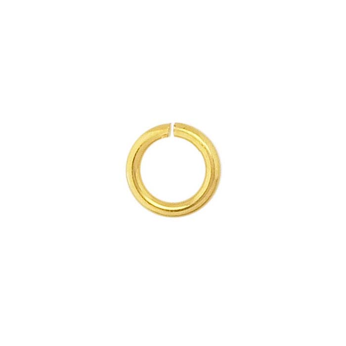 Brass Yellow Gold-Plated 5mm Round Jump Ring