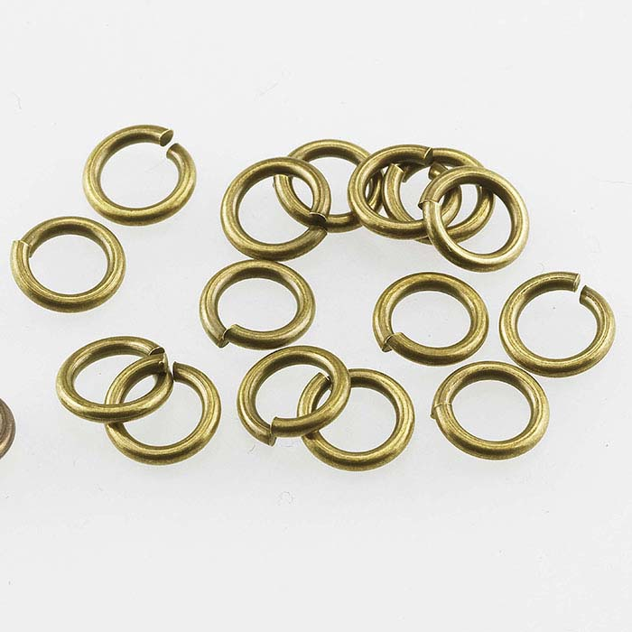 Brass Antique-Finish 5mm Round Jump Ring