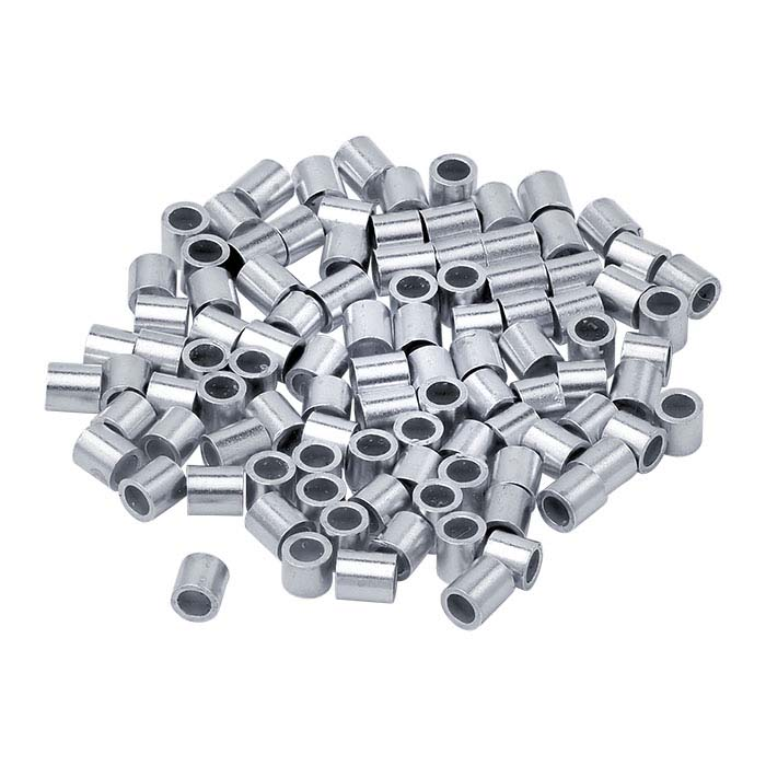 Sterling Silver Tube Crimp Beads
