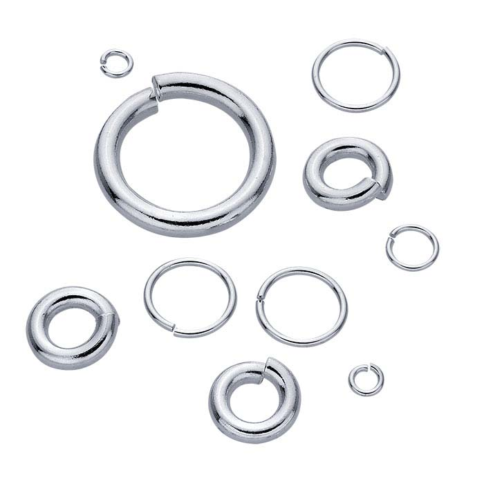 STERLING SILVER 6 X 7MM JUMP RINGS PERFECT FOR CHARMS