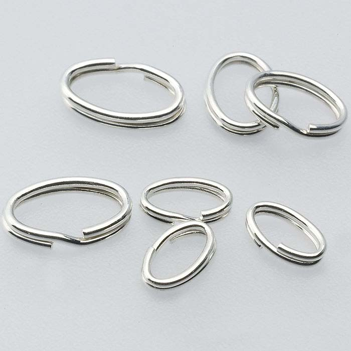 Sterling Silver Oval Split Rings