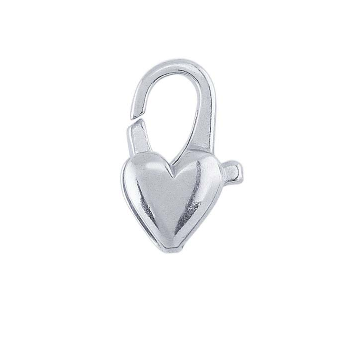 Sterling Silver Heart Lobster Clasps