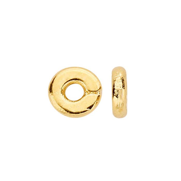 Britannia Pewter Gold-Plated 4mm Bead