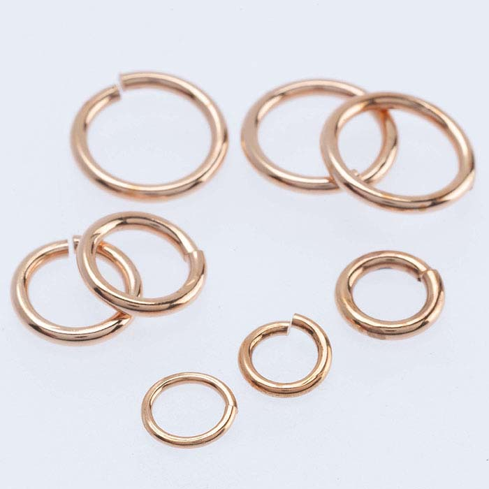 Copper Round Jump Rings