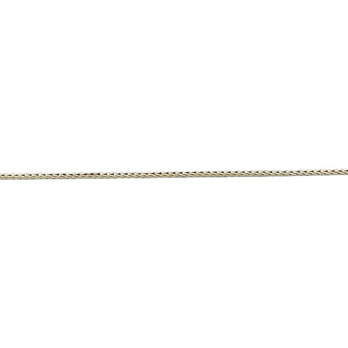 Nickel #00 Foxtail Double-Strand Beading Chain, By the Foot
