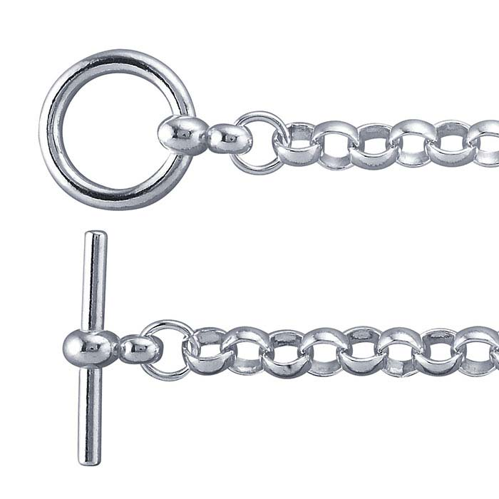 Sterling Silver 5.6mm Round Rolo Chain Bracelet