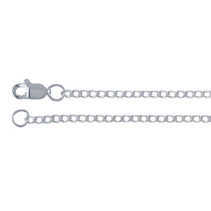Sterling Silver 1.8mm Diamond-Cut Curb Chains