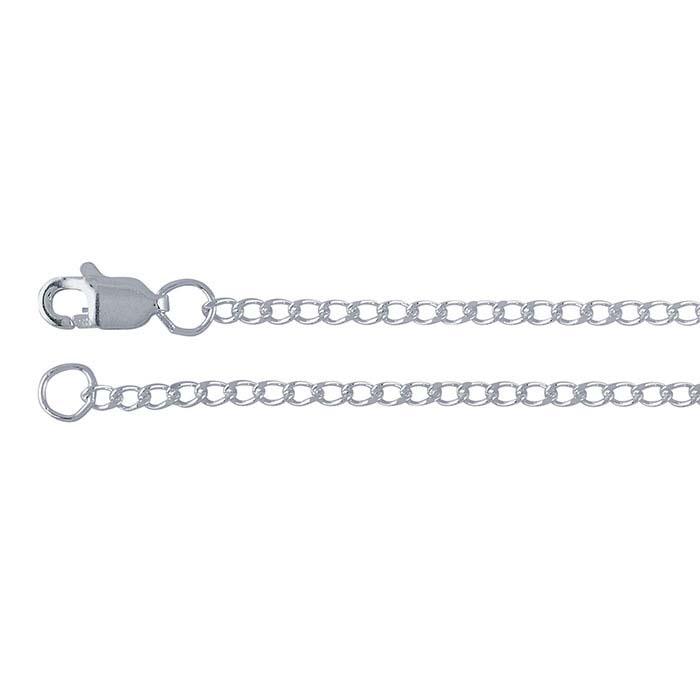 Sterling Silver 1.8mm Diamond-Cut Curb Chains