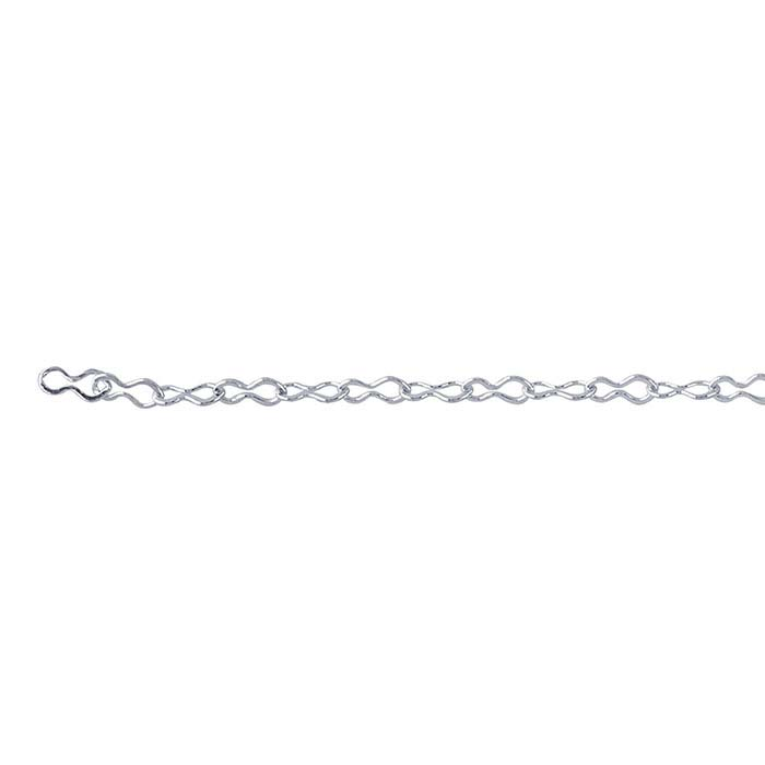 Sterling Silver 1.3mm Krinkle Chain, By the Foot