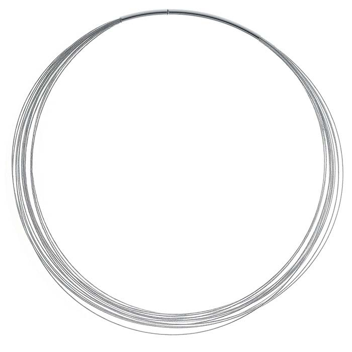 Sterling Silver 0.4mm 15-Strand Cable Neck Wires