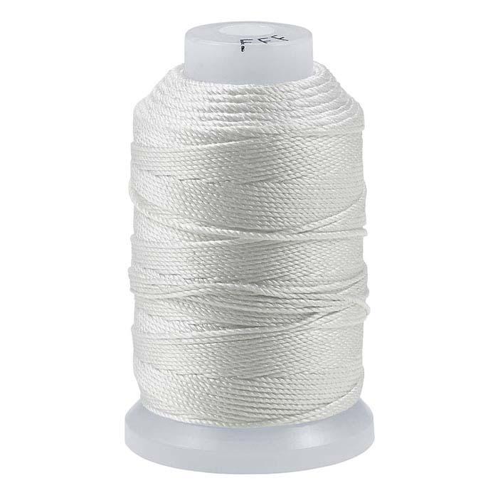White Silk Bead Cords