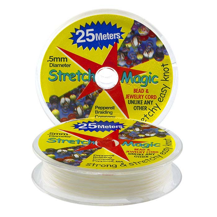 "Stretch Magic White .020"" Jewelry Cord, 25 Meters"
