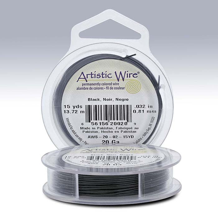 Artistic Wire® Black 20-Ga., 15-Yd. Spool